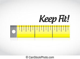 mérés, fogalom, szalag, egészséges, tart