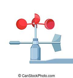 mérés, szélmérő, használt, eszköz, gyorsaság, felteker