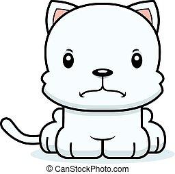 mérges, karikatúra, cica