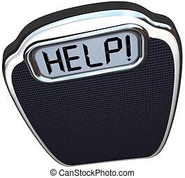 mérleg, szó, segítség, súly, diéta, késik, gyakorlás
