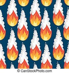 météore, brûler, ciel, pattern., seamless, pluie, astéroïde, ardent, texture.