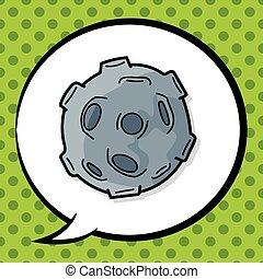 météorite, griffonnage