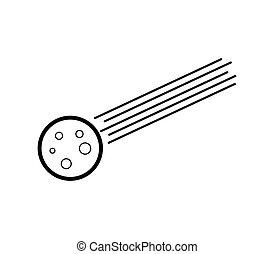 météorite, icône