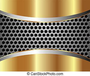 métal, 2, arrière-plan grille