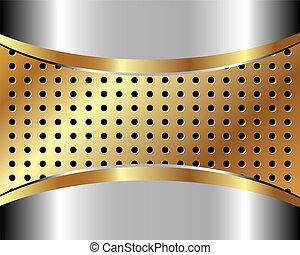 métal, 3, arrière-plan grille