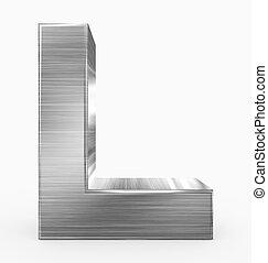 métal, 3d, isolé, lettre, cubique, blanc