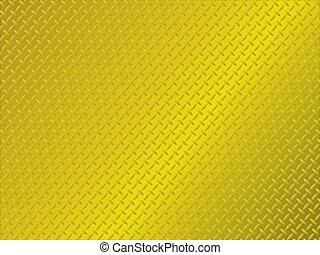 métal, anti, glissade, or