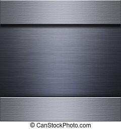 métal brossé, aluminium, plaque