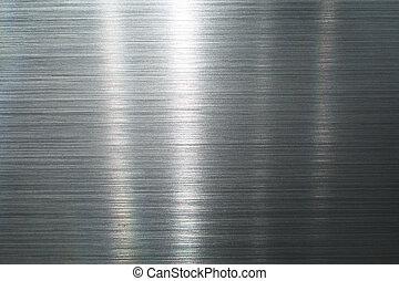 métal, brossé, plaque
