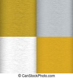 métal brossé, variation
