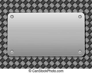 métal, carbone, plaque