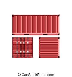 métal, cargaison, container.