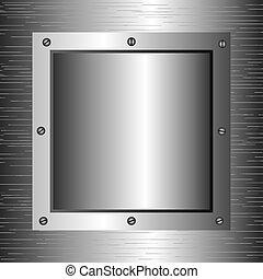 métal, conception, vecteur, illustration.