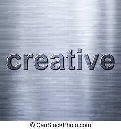 métal, créatif, fond, concept