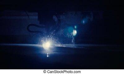 métal, découpage, laser, feuille