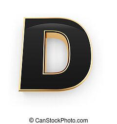 métal, d, lettre