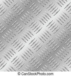 métal, diamant, seamless, plaque, vecteur, pattern.