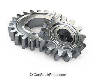 métal, engrenage, wheels.