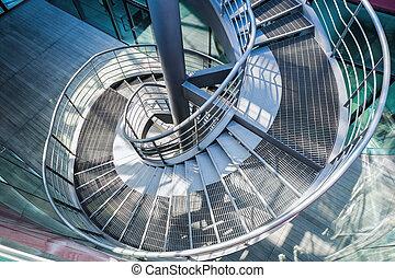 Fragment m tal escalier spirale image de stock for Escalier spirale