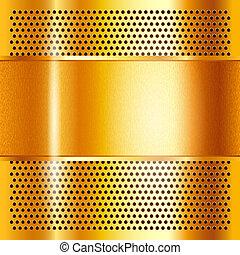 métal, feuille, or