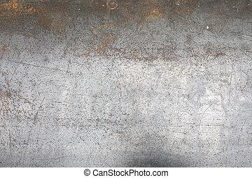 métal, feuille, porté, texture, plancher
