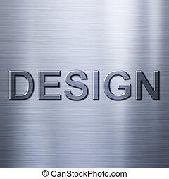 métal, fond, concept, conception