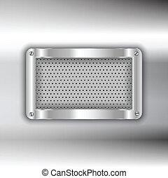 métal, fond, plaque