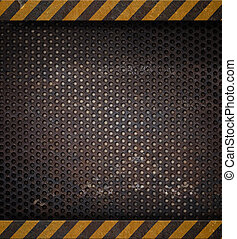 métal, holed, ou, perforé, arrière-plan grille