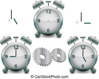 métal, horloge