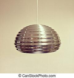 métal, lampe, moderne, brillant, conception