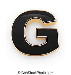 métal, lettre g