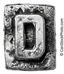 métal, lettre