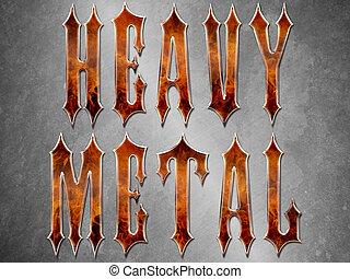métal lourd, fond, themed