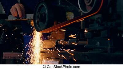 métal, machine, formation, 4k, ouvrier