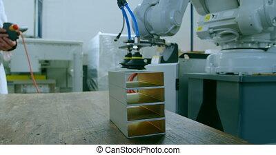 métal, machine, succion, robotique, prise, cueillette, entrepôt, 4k