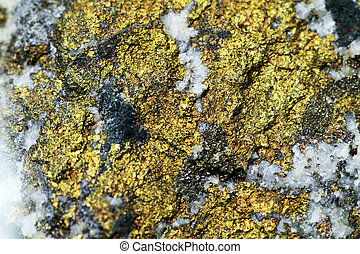 métal, minéral, texture, chalcopyrite