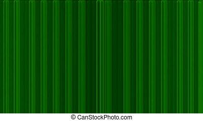 métal, panneau, lignes, vert, rouleau