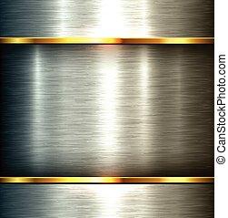 métal poli, fond