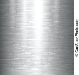 métal poli, texture.