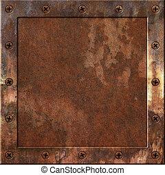métal rouillé, fond