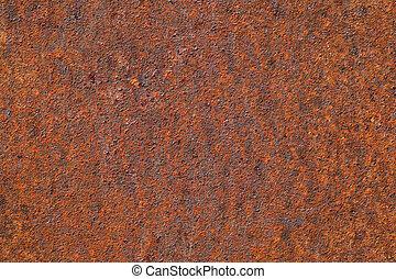 métal rouillé, fond, texture, ou