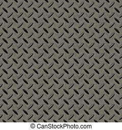 métal, seamless, fond, checkerplate