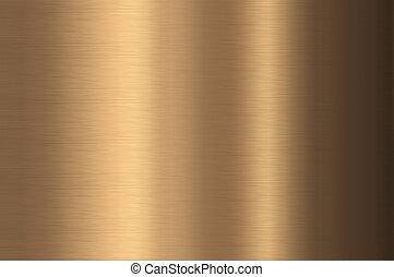 métal, texture., bronze