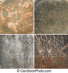 métal, textures