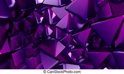 métallique, géométrique, en mouvement