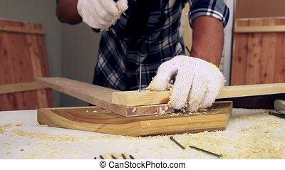 métier, bois, charpentier, atelier, fonctionnement
