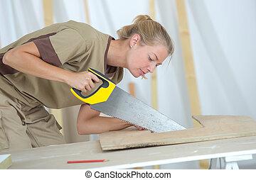 métier, charpenterie, femmes