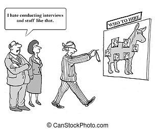 métier, entrevues