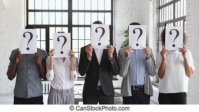 métier, gens inemployés, questions, nouveau, figure, ...