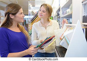 métier, papier, achat